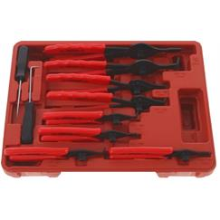 Franklin 10 pce Int/Ext Circlip Pliers Set