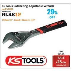 KS Tools Ratcheting Adjustable Wrench Promotion