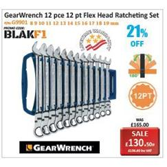 GearWrench 12pce Flex Head Ratcheting Set Promotion