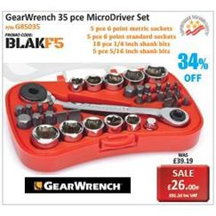 GearWrench 35 pce MicroDriver Set Promotion