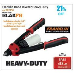 Franklin Hand Riveter Heavy Duty Promotion