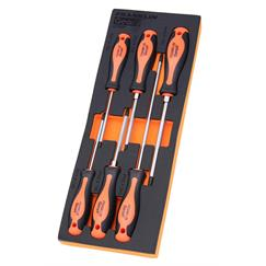 Gear F 6 pce Phillips and Pozi S2 PRO Screwdriver Set
