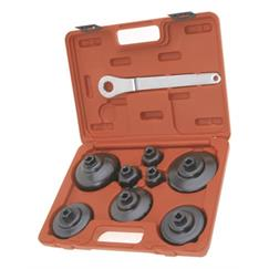 "Franklin 9 pce Cup Filter Wrench Set 3/8"" dr"