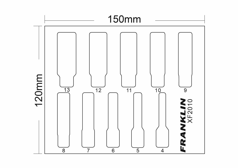 franklin xf 10 pce 6 pt deep socket set 1  4 u0026quot  dr
