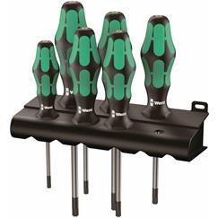 Wera 6pce Tamper Torx Screwdriver Set
