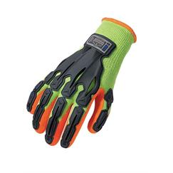 Thermal Rubber-Dipped Dorsal Impact Reducing Glove