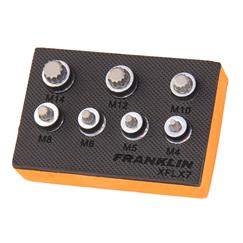 "Franklin XF 7 pce Low Profile Spline Set 3/8"" dr"